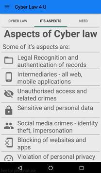 Cyber Law 4 U apk screenshot