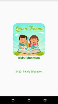 Kids Education Learn Poems poster
