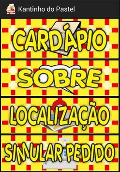 Kantinho do Pastel - Cardápio poster