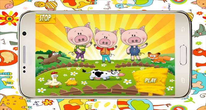 Little pigs and farm - Audio Fairy Tale poster