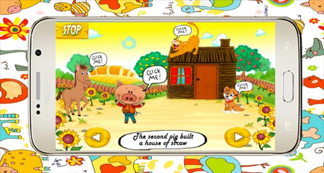Little pigs and farm - Audio Fairy Tale screenshot 2