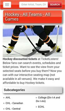 Event Tickets by TicketListers apk screenshot