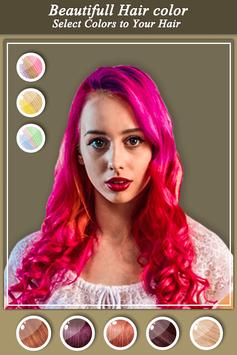 Girls Hair Color Effect - Girls Photo Editor screenshot 3