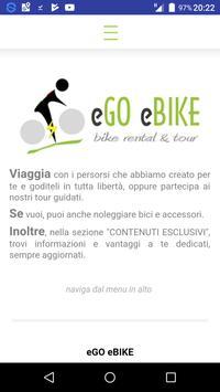 eGO eBIKE - bike rental & tour poster