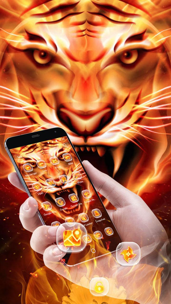 Fire Tiger Wallpaper For Android Apk Download