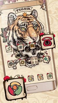 Tiger Tattoo Skull poster