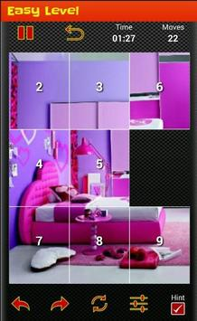 tile puzzle girls  bedroom ♠ poster