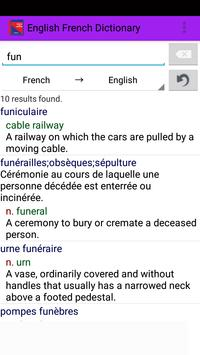 English French Dictionary screenshot 1