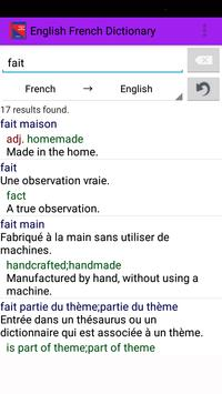 English French Dictionary apk screenshot