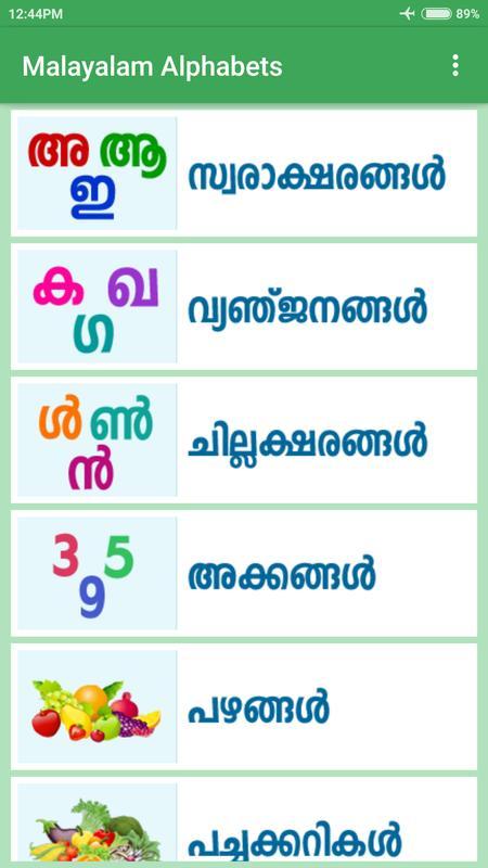 malayalam alphabets pdf free download