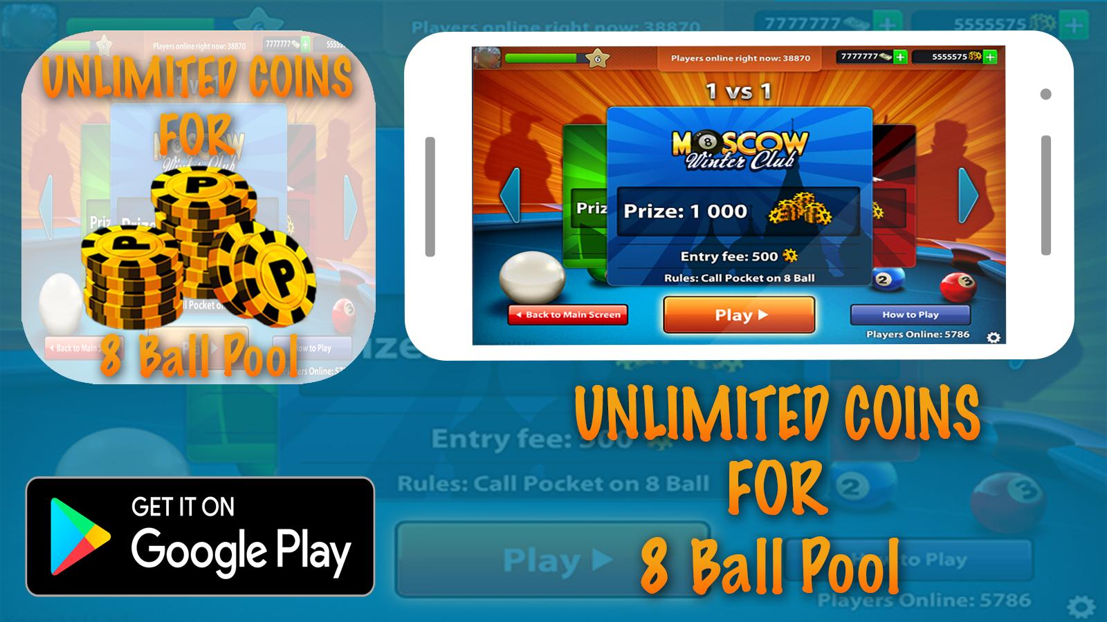 8 Ball Pool Coin Generator Online hack for 8ball pool prank! for android - apk download