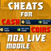 Cheats For Nba live Mobile Prank! icon