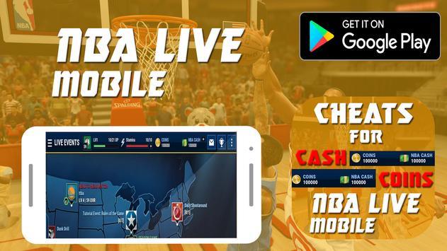 Cheats For Nba live Mobile Prank! poster