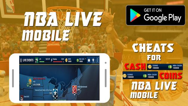 Cheats For Nba live Mobile Prank! screenshot 1