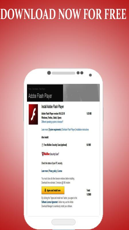 adobe flash player android free install