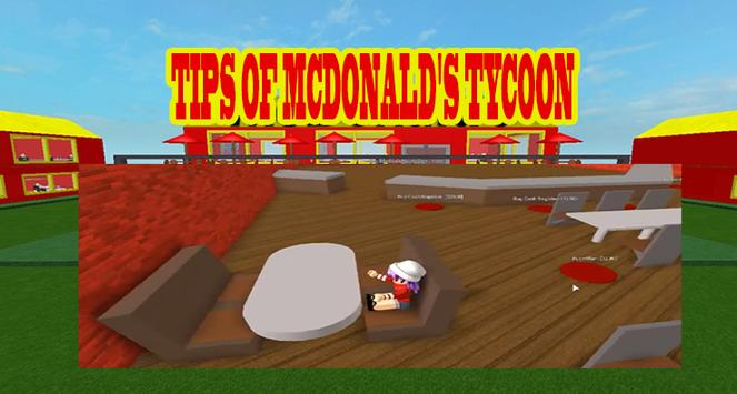 Tips of Mcdonald's Tycoon Roblox poster