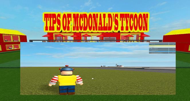 Tips of Mcdonald's Tycoon Roblox screenshot 2