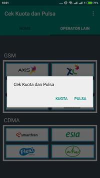 Cek Kuota dan Pulsa apk screenshot