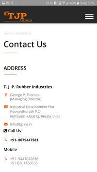 TJP Rubber Industries apk screenshot