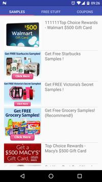 Free Stuff And Coupons poster