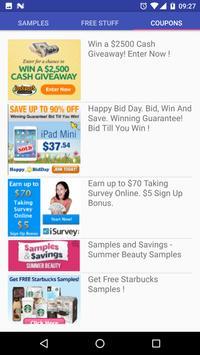 Free Stuff And Coupons apk screenshot