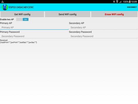 ESP32 WiFi setup over BLE or Bluetooth Serial screenshot 8