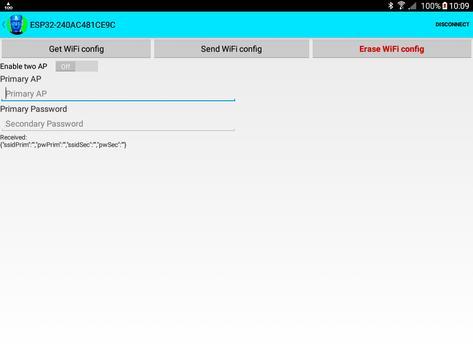 ESP32 WiFi setup over BLE or Bluetooth Serial screenshot 12