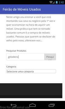 Feirão de Móveis Usados screenshot 2