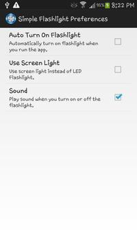 Simple Flashlight apk screenshot