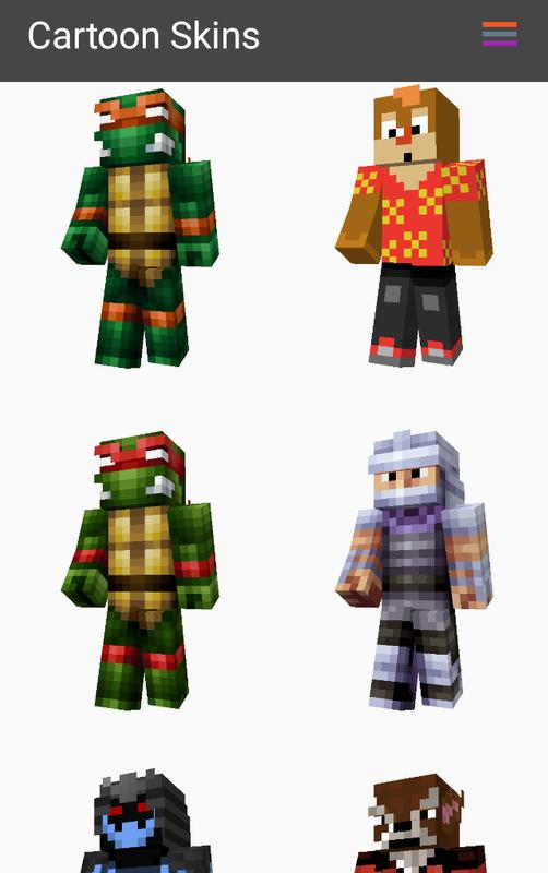Cartoon Skins For Minecraft PE For Android APK Download - Skins para minecraft orochimaru