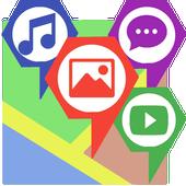 MultiMediaMap - photos on a map icon