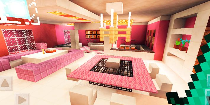 Luxurious Pink House. Map for MCPE for Android - APK Download