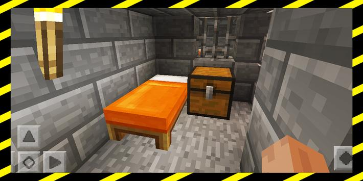 MineBloxia Prison. Map for MCPE poster