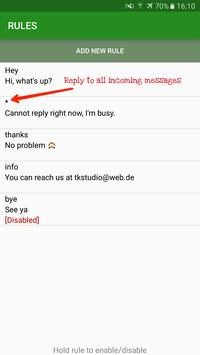AutoResponder for WhatsApp apk screenshot