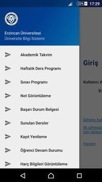 Erzincan Üniversitesi ÜBS apk screenshot