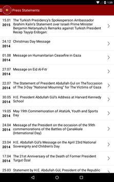 Pres of the Republic of Turkey apk screenshot