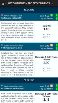 Bet Comments - Pro Bet Tips screenshot 7