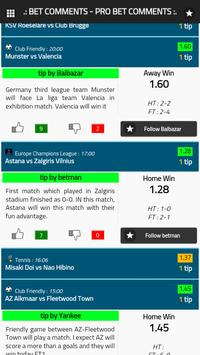 Bet Comments - Pro Bet Tips screenshot 2