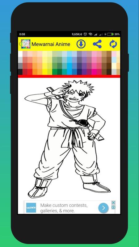 Game Mewarnai Manga Anime For Android Apk Download