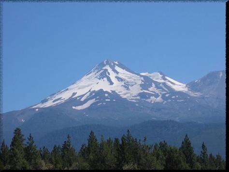 Mount Shasta wallpaper poster