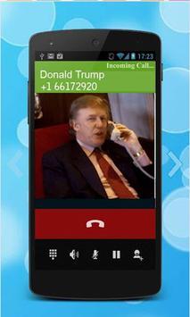 fake call from donald trump apk screenshot