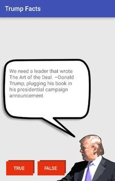 True or False: Trump poster