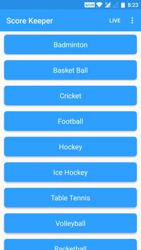 Score Keeper apk screenshot