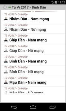 Tử Vi Chuyên Sâu 2018 apk screenshot