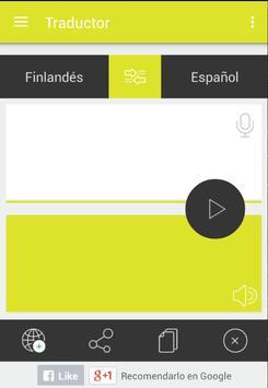 Traductor finlandés español apk screenshot