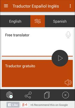 Translate English to Spanish apk screenshot