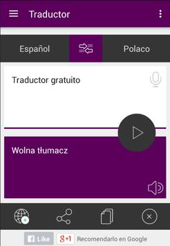 Traductor Español Polaco apk screenshot