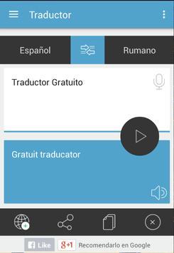 Traductor Rumano Español apk screenshot