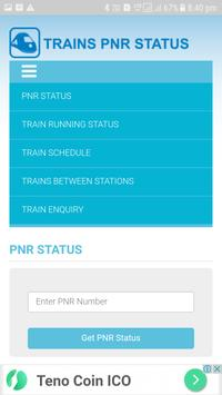 Trains PNR Status screenshot 2