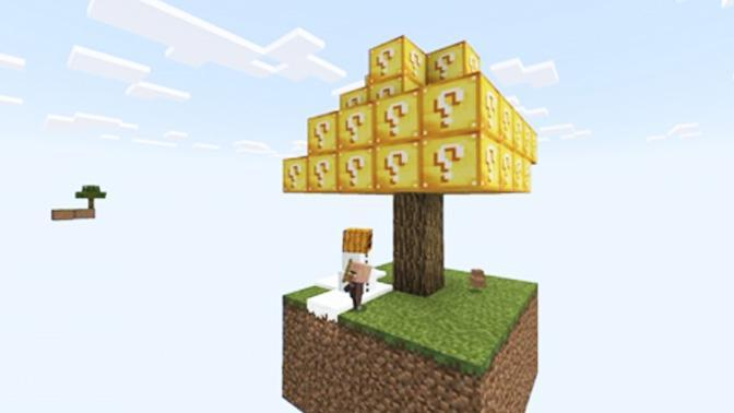 Lucky Block Tree - Skyblock maps for Minecraft pe for